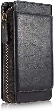 Burenqi@ Zipper Wallet Portafoglio multifunzione lungo portafoglio di di di denaro,Nero | Bel design  | Raccomandazione popolare  | Elegante e divertente  | Prima qualità  | Fashionable  fc7bb3