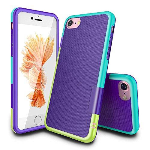 Funda iPhone 7 Han Lucky Stars TPU Funda Carcasa para iPhone 7, iPhone 7 Funda con [Ultra Fina][Anti-Arañazos][Anti-Choques][Garantía de por vida] (Amarillo/Azul)
