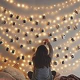 Danolt 10M 80 LED guirlande lumineuse avec 50 clips en bois suspendu cadres photo...