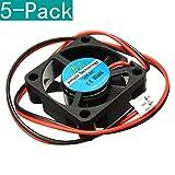 Youmile 5-Pack 12V DC 30mm Lüfter für 3D Drucker RAMPS Elektronik/Extruder - RepRap Prusa