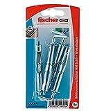 Fischer Hohlraum-Metalldübel HM 5 x 65 HK SB-Karte, 4 x Winkelhaken mit Bund 5 x 70, 014804