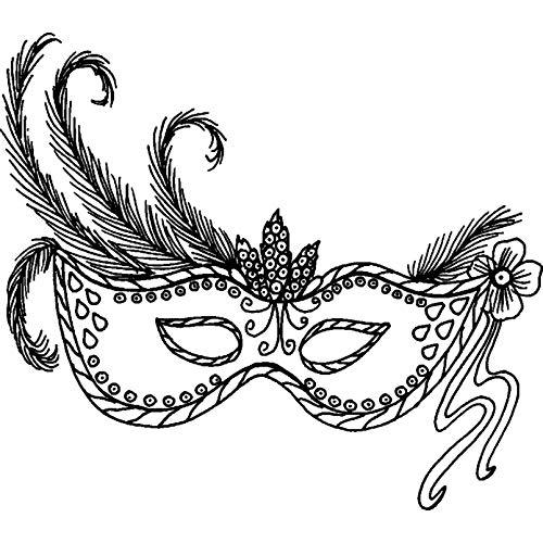 Azeeda A8 'Maskerade Maske' Stempel (Unmontiert) (RS00016272) (Beste Die Maskerade Masken)