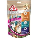 8in1 Delights Selection Hunde Leckerli-Mix (Größe XS, verschiedene Kauknochen und -snacks für kleine Hunde) 15 Stück (1 x 248 g)
