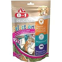 8in1 Delights Selection gesunder Kausnack-Mix, Größe XS, verschiedene Snacks für kleinere, 15 Stück (1 x 248 g)