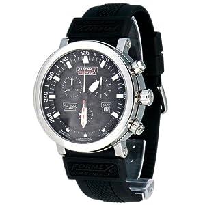 Formex 4 Speed RS700 - Reloj cronógrafo de caballero de cuarzo con correa de silicona negra (cronómetro) - sumergible a 100 metros de Formex 4 Speed