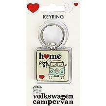 Ufficiale VW Camper casa è dove si parcheggia E Portachiavi - Home is Where You Park it