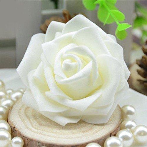 50x Foamrosen Schaumrosen Schaumköpfe Künstliche Blume Brautstrauß Party Hause Dekor Rosen Rosenköpfe