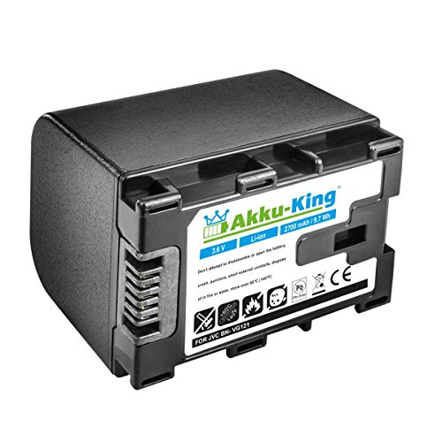 Akku-King Akku ersetzt JVC BN-VG121 für JVC Everio GZ-Reihe - Li-Ion 2700mAh - ersetzt auch JVC BN-VG107, JVC BN-VG114, JVC BN-VG138