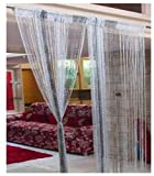 RAMCHA BLACK STRING CURTAIN WITH SILVER ...