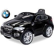 Kinder Elektroauto Original BMW X6 Lizenzierter 2 x 45 Watt Motor Ledersitz Elektro Kinderauto Kinderfahrzeug Spielzeug für Kinder Kinderspielzeug