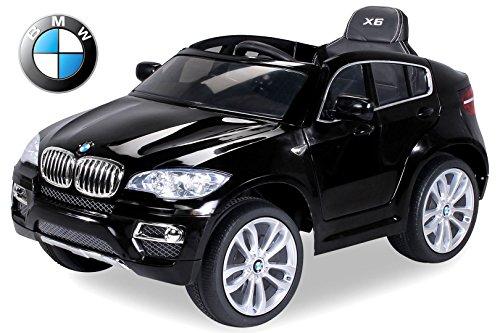 *Kinder Elektroauto Original BMW X6 Lizenzierter 2 x 45 Watt Motor Ledersitz & Dashboard Elektro Kinderauto Kinderfahrzeug (schwarz)*