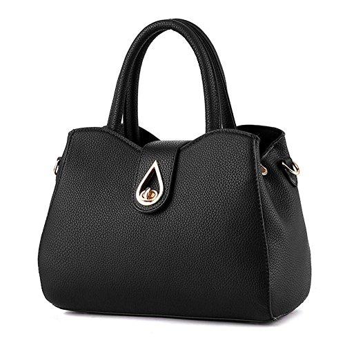 HQYSS Borse donna Moda sport piazza sezione PU pelle donne multicolore tracolla Messenger Handbag , big red black