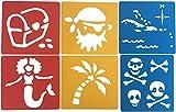 Childminding Ressourcen-Schablone Karibikinseln, Meerjungfrau und Pirat, waschbar, 6 Stück
