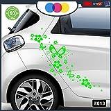 Stickers pour Voiture-Fleurs et farfalle- Voiture Machine-Nouveauté. Auto Moto, Stickers, Van Camper Decal Vert