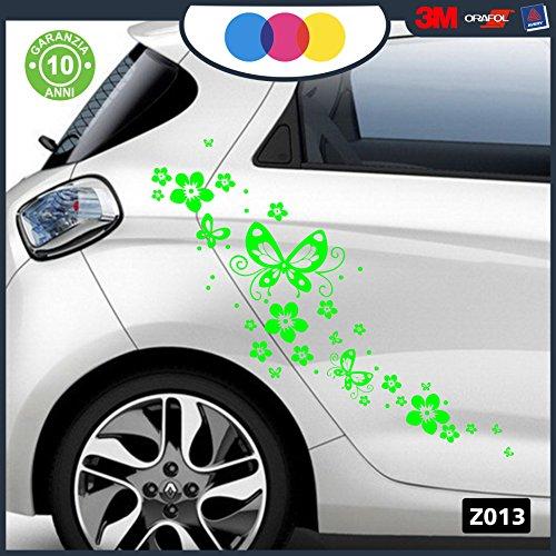 Adesivi per auto - fiori e farfalle- auto macchina - novità!! auto moto camper, stickers, decal (verde)