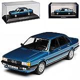 alles-meine GmbH Audi 80 B2 Limousine Blau 2. Generation 1978-1986 1/43 Norev Modell Auto mit individiuellem Wunschkennzeichen