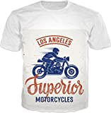 100ANB - LOS ANGELES L.A. CALIFORNIA - Superior MOTORCYCLES RACER SPEED (2 - 10) - MOTOR BIKER RIDER SPORTS BIKE MOTO CROSS RACING - GRAPHIC PRINTED D