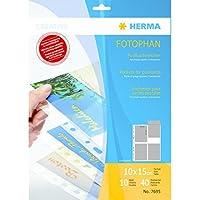 Herma 7695 - Paquete de 10 fundas para postales, 10 x 15 cm