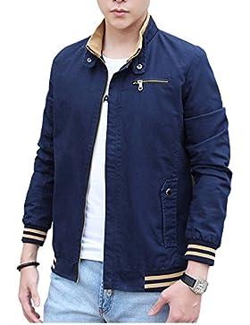 Abrigo Para Hombre Deportiva Chaqueta Outwear Abrigos De Manga Larga Tops S Azul