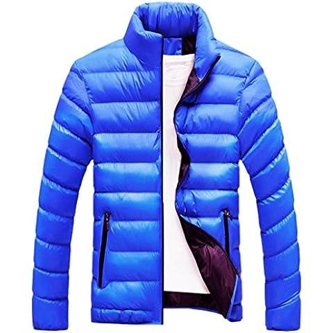 Hombres capa, Amlaiworld Abrigo de abrigo de invierno de Slim Fit (M, Azul)