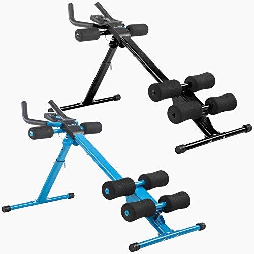 skandika Ab Grinder, Bauchtrainer inklusive Trainingscomputer, faltbar, Heimfitnessgerät mit 5 Intensitätsstufen für optimales Bauchmuskeltraining