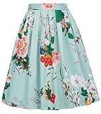 GRACE KARIN Falda Vintage Venta Verde Floral para Cóctel XL 22#