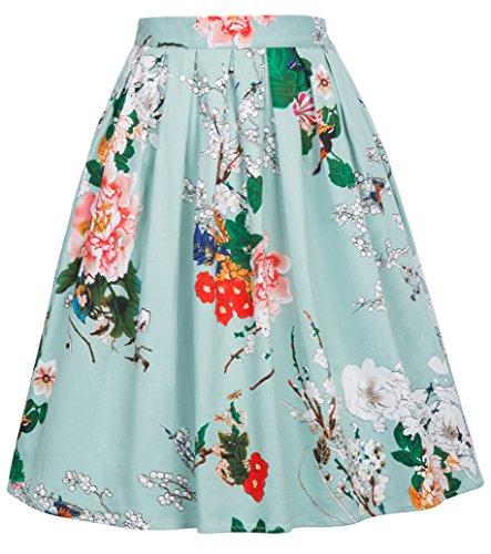 GRACE KARIN Retro Dress - Gonna - Linea ad a - Donna Cl6294-22 XXX-Large