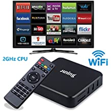 Juning S805 Smart Android TV Box Quad Core CPU 1GB + 8GB 2GHz Ultra HD WiFi TV Box Soporte 4K - Disfruta del mundo de Internet de alta definición
