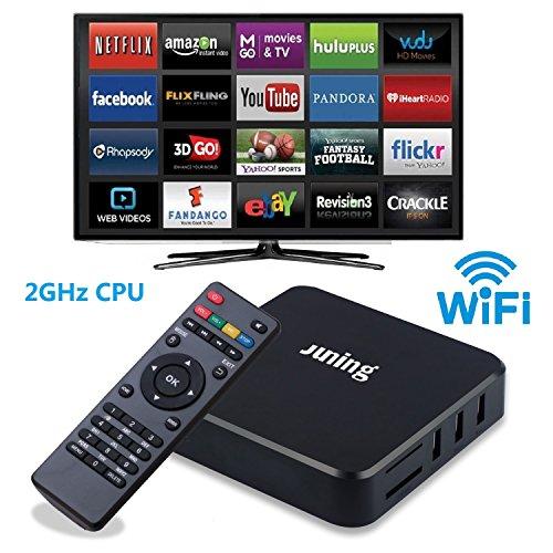 juning Smart Android TV Box, S805Quad Core CPU 1GB + 8GB 2GHz Ultra HD Wifi TV Box Support 4K * 2K para Disfruta de alta definición Internet World
