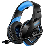 ONIKUMA Gaming Headset �ber Ohr Stereo Gaming Kopfh�rer mit Noise Cancelling Mic f�r Nintendo Switch PS4 Xbox One PC Laptop Smartphones Bild