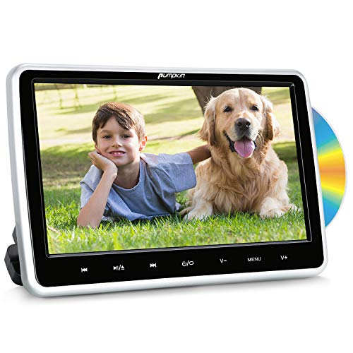Pumpkin lettore dvd auto per bambini poggiatesta con supporto, 10.1 pollici, supporto USB/SD/AV-in/out/cavo AUX/Region free/ 18 mesi di garanz