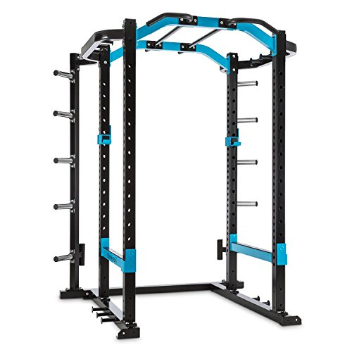 CAPITAL SPORTS Amazor P Power Rack Fitness Kraftstation Multifunktionstrainer Squat-Station, Monkey Bar, Klimmzugstangen (2x Safety Spotter, 2x J-Cups, 2x Hantelstangenaufnahmen) Stahl schwarz