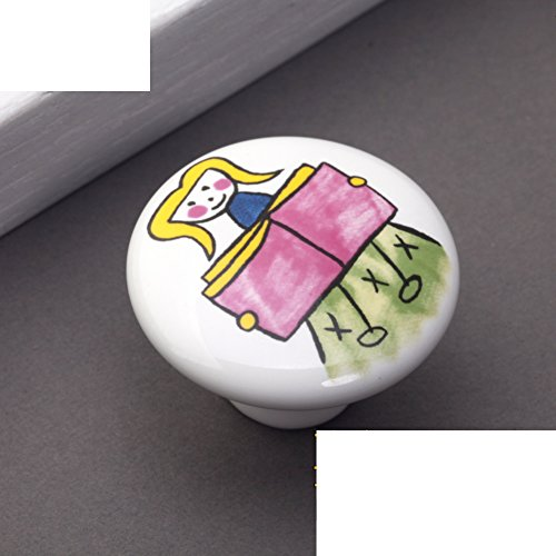 Kinder Keramik Griff/Cartoon-handle/Kleid Schuh Schranktür,Kupfer Armaturen/Rustikal Land Griffe-D (Armaturen Für Kleid, Schuhe)