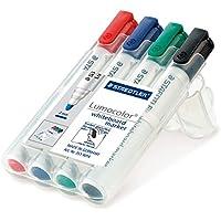 STAEDTLER 351 WP4, STAEDTLER 351 WP4 Lumocolour Whiteboard Marker with Bullet Tip, Assorted Colours, Pack of 4 (Toys & Games)
