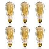 Homestia ST64 Glühlampe 220V 60W E26 / E27 Edison Retro Antike Glühlampe Beleuchtung (6 Stück)