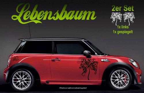 Preisvergleich Produktbild Design Autoaufkleber - 2er Set XL ***LEBENSBAUM*** Motivfarbe kann frei gewählt werden!
