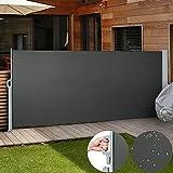Jago Store Latéral 300 x 160 cm Paravent Extérieur Rétractable (Taille/Coloris au Choix)