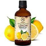 Zitronenöl 100ml - Citrus Limon - Italien - 100% Reines Zitronen Öl für Guten Schlaf - Körperpflege - Wellness - Schönheit - Entspannung - Massage - Spa - Aroma Diffuser - Duftlampe