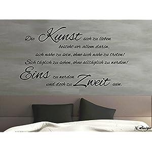 Wandtattoo-Wandaufkleber-Wandsticker ***Die Kunst sich zu lieben.*** (Größen und Farbauswahl)