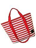 Sport Tent Streifen Canvas Dual Verwenden Umhängetasche Handtasche Mama Tasche Trendy Casual Tasche Mit Reißverschluss