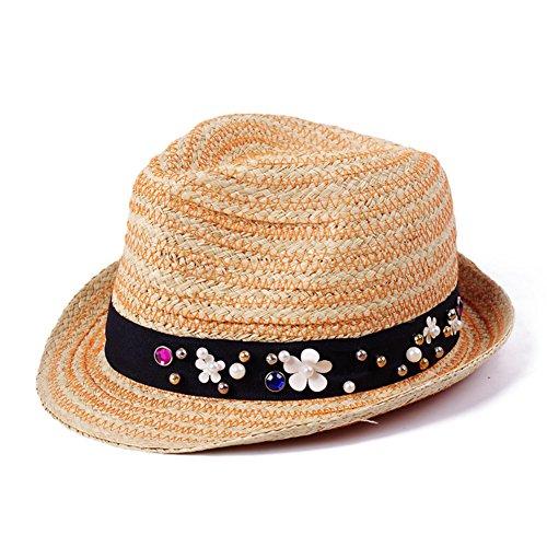 Chapeaux De Paille Colorés/Chapeaux De Soleil Summer/Version Coréenne Du pare-Soleil-/Aucun Jazz/Top Hat R