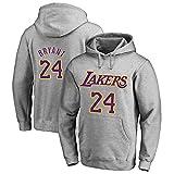 TSHULY Uomo Magliette Sportive da Basket NBA Lakers 24# Kobe Bryant Camicia da Basket