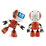 regalo de Navidad juguetes gatos juguetes para perros juguetes niños robot de juguete de música multifunción, Tacto sensible Sannysis Robótico Inteligente Juguete Educativo (Naranja)