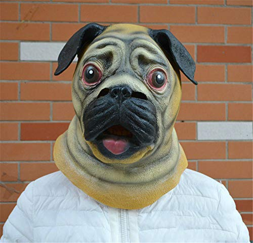 NUOKAI Halloween Maske Prom Supplies Maske Cartoon Tier Maske Shar Pei Maske Cute Dog Head - Shar Pei Dog Kostüm