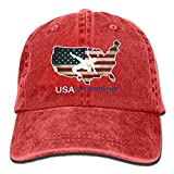 Aoliaoyudonggha Men and Women USA Wrestling Vintage Jeans Baseball Cap