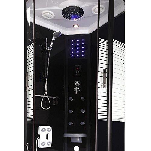 Home Deluxe Black Pearl 90x90 cm Duschtempel, inkl. Dampfsauna und komplettem Zubehör - 2