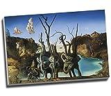 Salvador Dali Swans Reflecting Elefanten Wall Art Print auf Leinwand Bild Kunstdruck auf Leinwand groß A176,2x 50,8cm (76.2cm x 50.8cm)