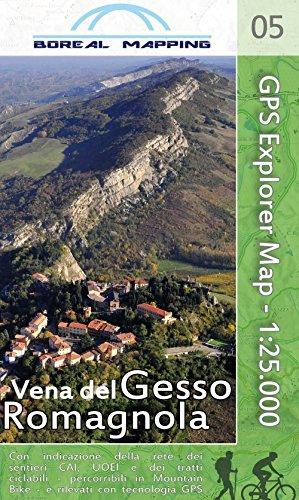 Vena del gesso romagnola. carta topografica per escursionisti a piedi ed in mountain bike in scala 1:25.000