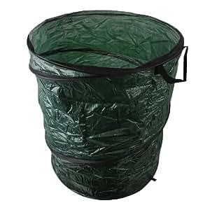 Pop Up déchets de jardin extérieur feuilles Herbe Poubelle Sac poubelle Sac–Vert