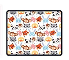 Animal Carnival 8.66 X 7.09 Inch Computer Mouse Pad with Neoprene Backing and Jersey Surface